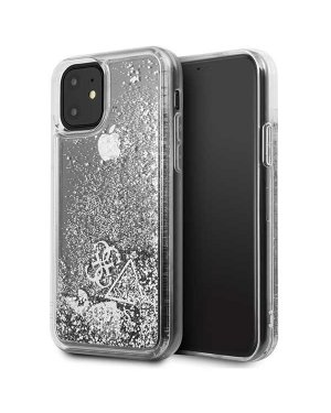 iPhone 11 • Mobilskal • Liquid Glitter • GUESS • Silver