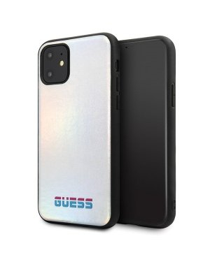 iPhone 11 - Mobilskal - Iridescent - GUESS - Silver