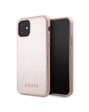 iPhone 11 • Mobilskal • Iridescent • GUESS • Rosa