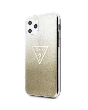 iPhone 11 - Mobilskal - Triangle Glitter - GUESS - Guld