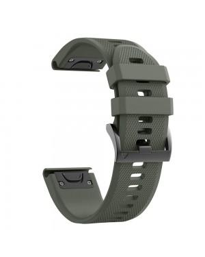 Armband • Garmin Fenix 5 / 6 / 6 PRO (22mm) • Smoothband • Armégrön