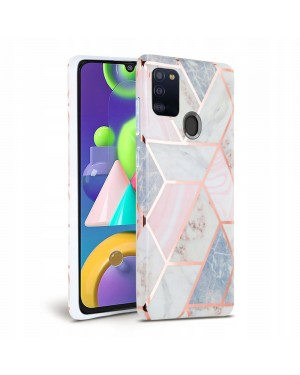 Samsung Galaxy A21s • Mobilskal • Marble • Rosa