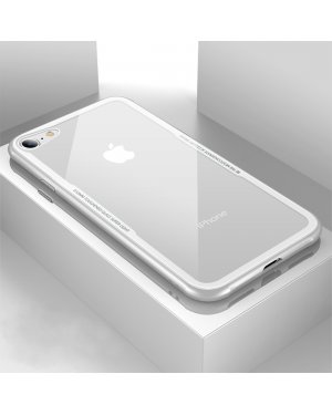iPhone 8 / 7 / SE (2020) - Glass Case X - Härdat glas - Vit