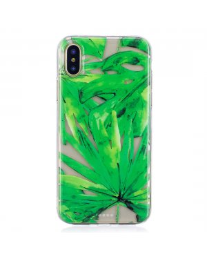 iPhone X / Xs Mobilskal - Green leaf