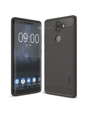 Nokia 8 Sirocco Mobilskal - Kolfiber design - Grå