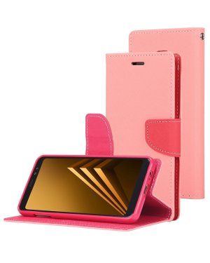 Galaxy A8 2018 Mobilfodral - Fancy Diary - Rosa